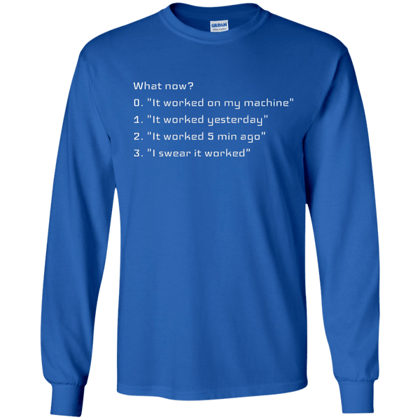 What now? - Programming Tshirt, Hoodie, Longsleeve, Caps, Case - Tee++