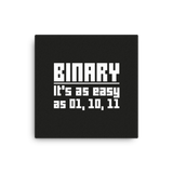 Binary is easy (canvas) - Programming Tshirt, Hoodie, Longsleeve, Caps, Case - Tee++