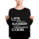 If I had The Source Code (canvas) - Programming Tshirt, Hoodie, Longsleeve, Caps, Case - Tee++