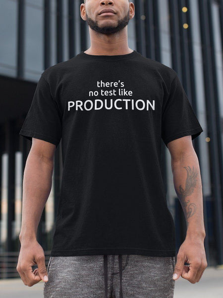 There's No Test Like Production - Programming Tshirt, Hoodie, Longsleeve, Caps, Case - Tee++