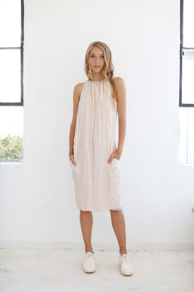 20.2.10 Triple Silk Sleeveless Dress- Ivory