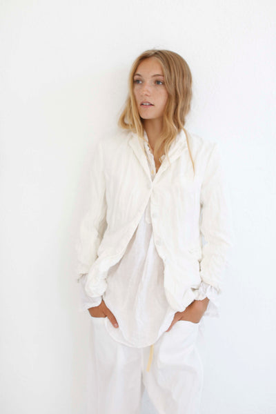 20.2.13 Linen Lined Jacket- White