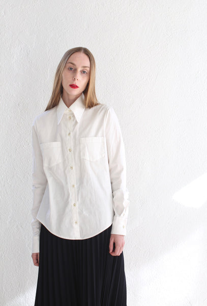 20.4.02 White Cotton Button Up