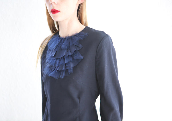 20.4.03 Wool Crepe Blouse with Ruffles