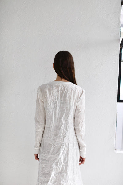 17.1.12 Bunny Hugger Dress, White Linen