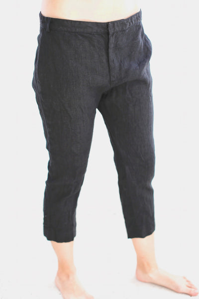 19.3.06 Skinny Trousers, Black Linen