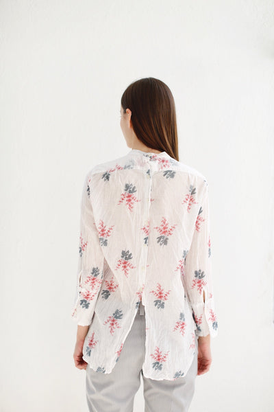 20.1.02 Blouse with Ruched Yolk, Floral