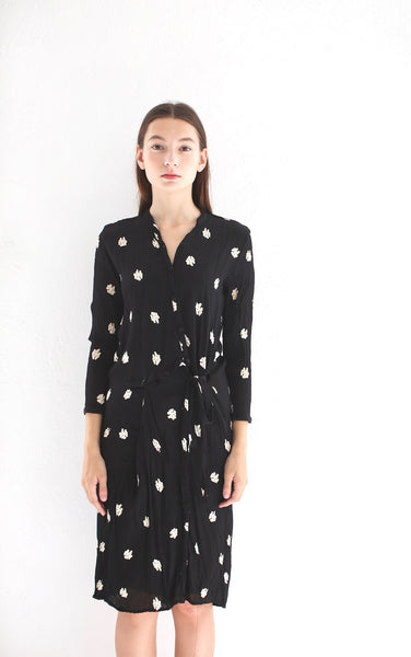 Rayon Dress with Cross Tie