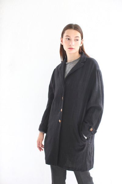 20.3.14 Ghost Wool Over Coat/ Black