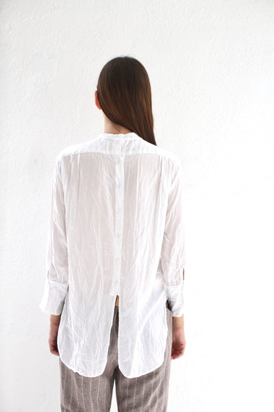 Blouse with Ruched Yoke