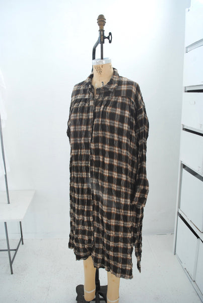 warm plaid tunic
