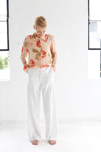 The Hazel Brown Collection Linen Trousers