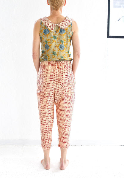 The Hazel Brown Collection  Silk Slouch Pant  19.2.03