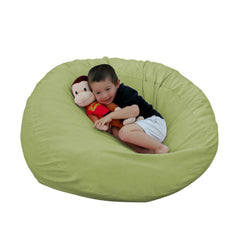 Bean Bag Chair Large 2 Foot Cozy Sack Premium Foam Filled Liner Plus Microfiber Cover