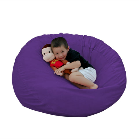 Captivating Bean Bag Chair Large 2 Foot Cozy Sack Premium Foam Filled Liner Plus  Microfiber Cover ...