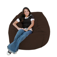 Chocolate bean bag chair