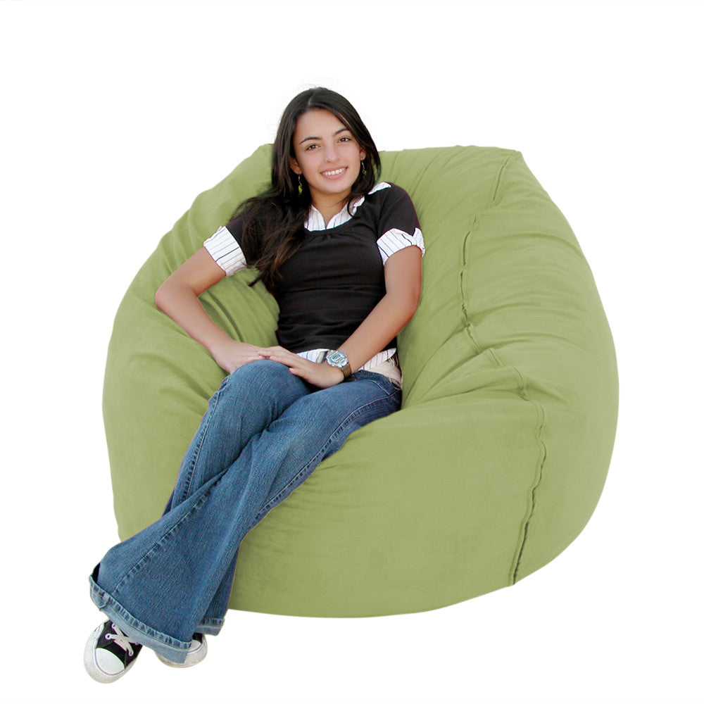 Bean Bag Chair Large 3 Foot Cozy Sack Premium Foam Filled Liner Plus  Microfiber Cover ...