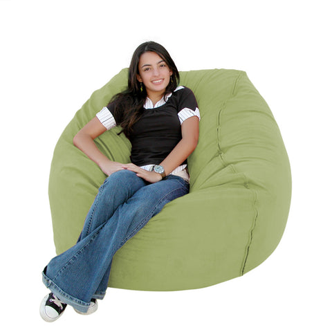 Bean Bag Chair Large 3 Foot Cozy Sack Premium Foam Filled Liner Plus Microfiber Cover