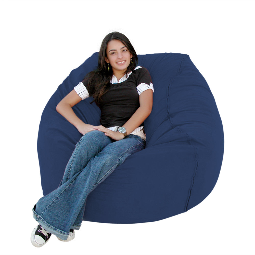 Navy bean bag chair