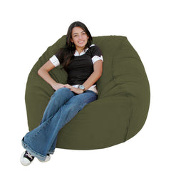 Olive bean bag chair
