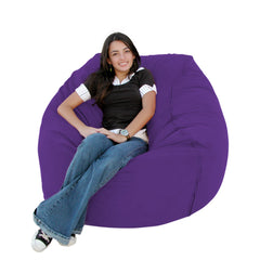 Purple bean bag chair