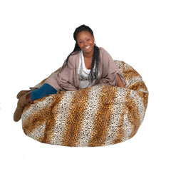 leopard bean bag