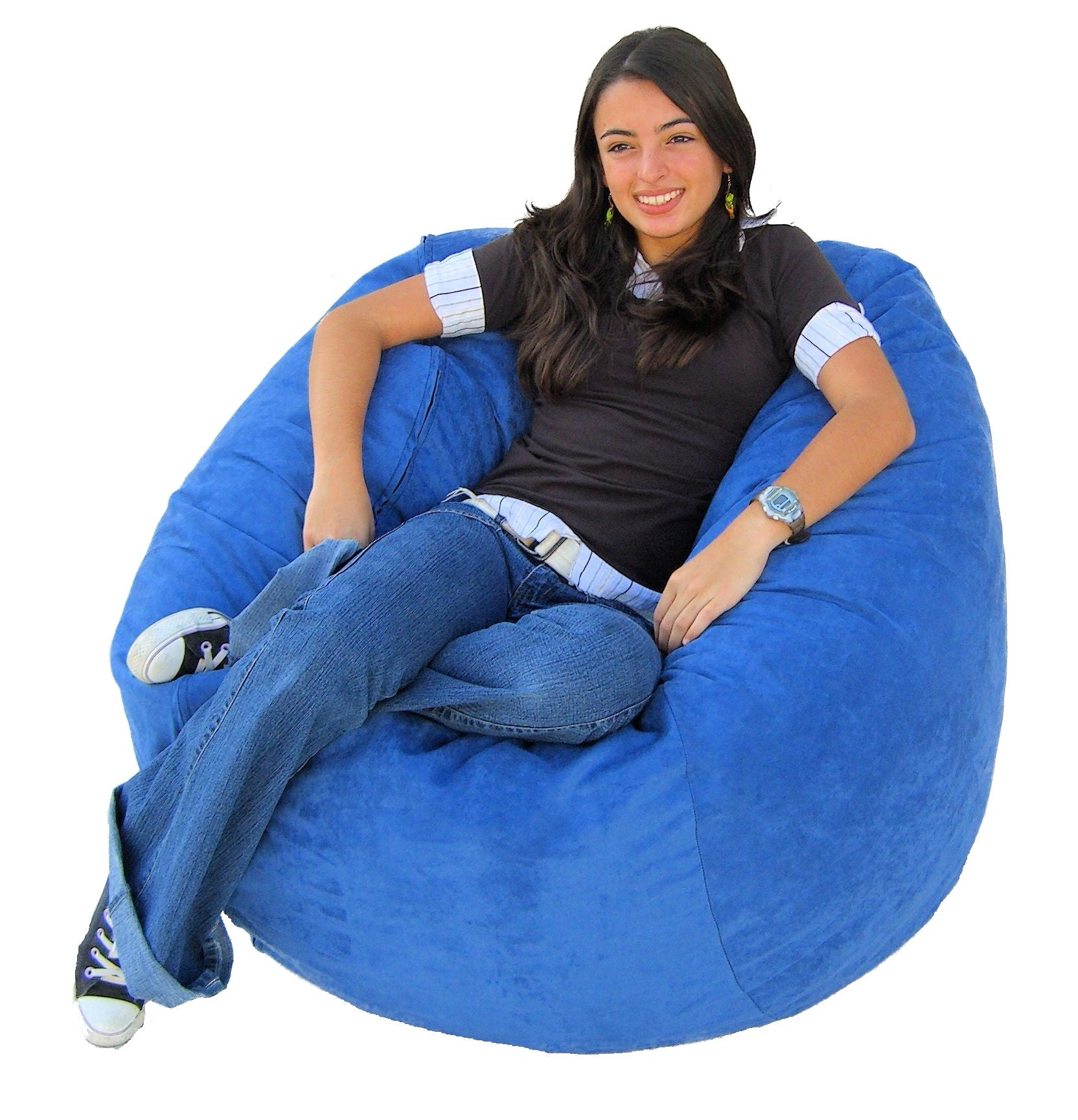 bean bag chair large 4 foot cozy sack premium foam filled. Black Bedroom Furniture Sets. Home Design Ideas