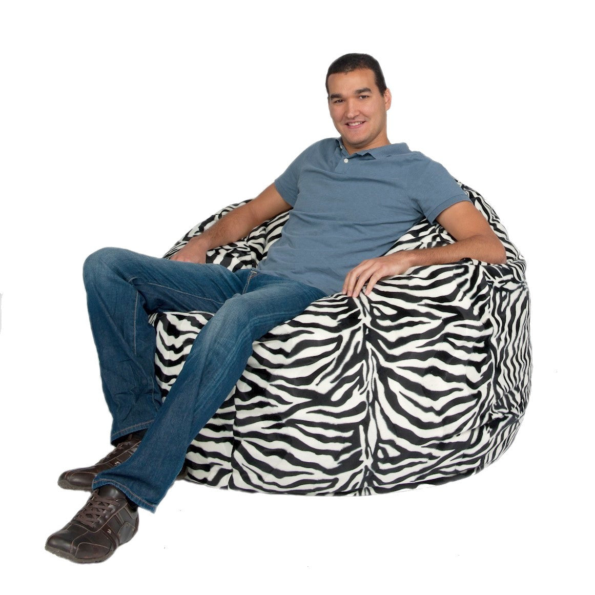 Bean Bag Chair Large 4 Foot Cozy Sack Premium Foam Filled Liner