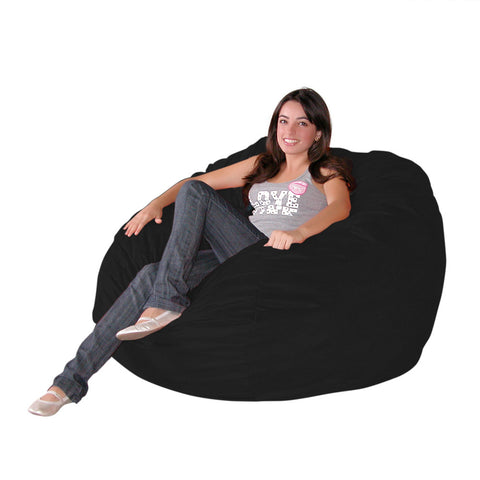 Bean Bag Chair Large 4 Foot Cozy Sack Premium Foam Filled Liner Plus  Microfiber Cover ...