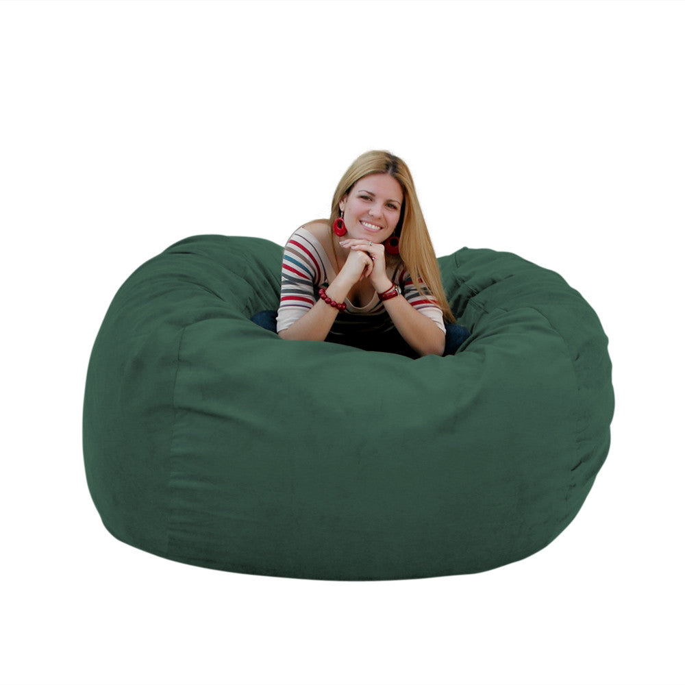 hunter green bean bag