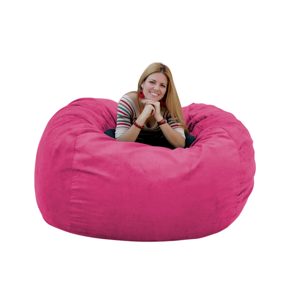 hot pink bean bag