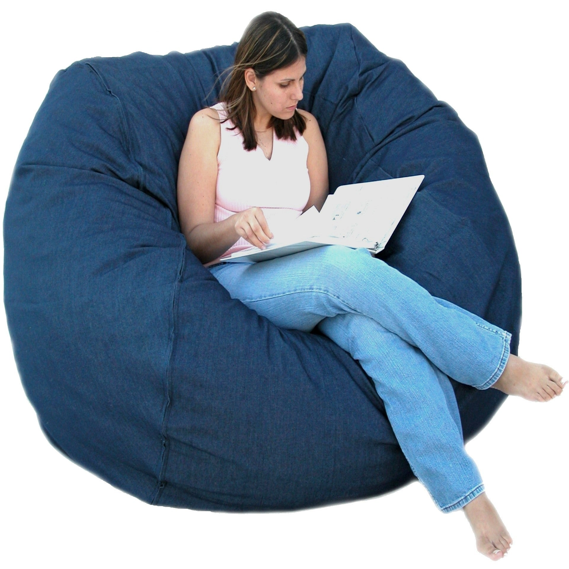 Bean Bag Chair Large 5 Foot Cozy Sack Premium Foam Filled ...