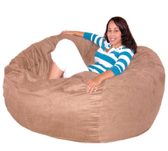 Medium Brown Beanbag Chair