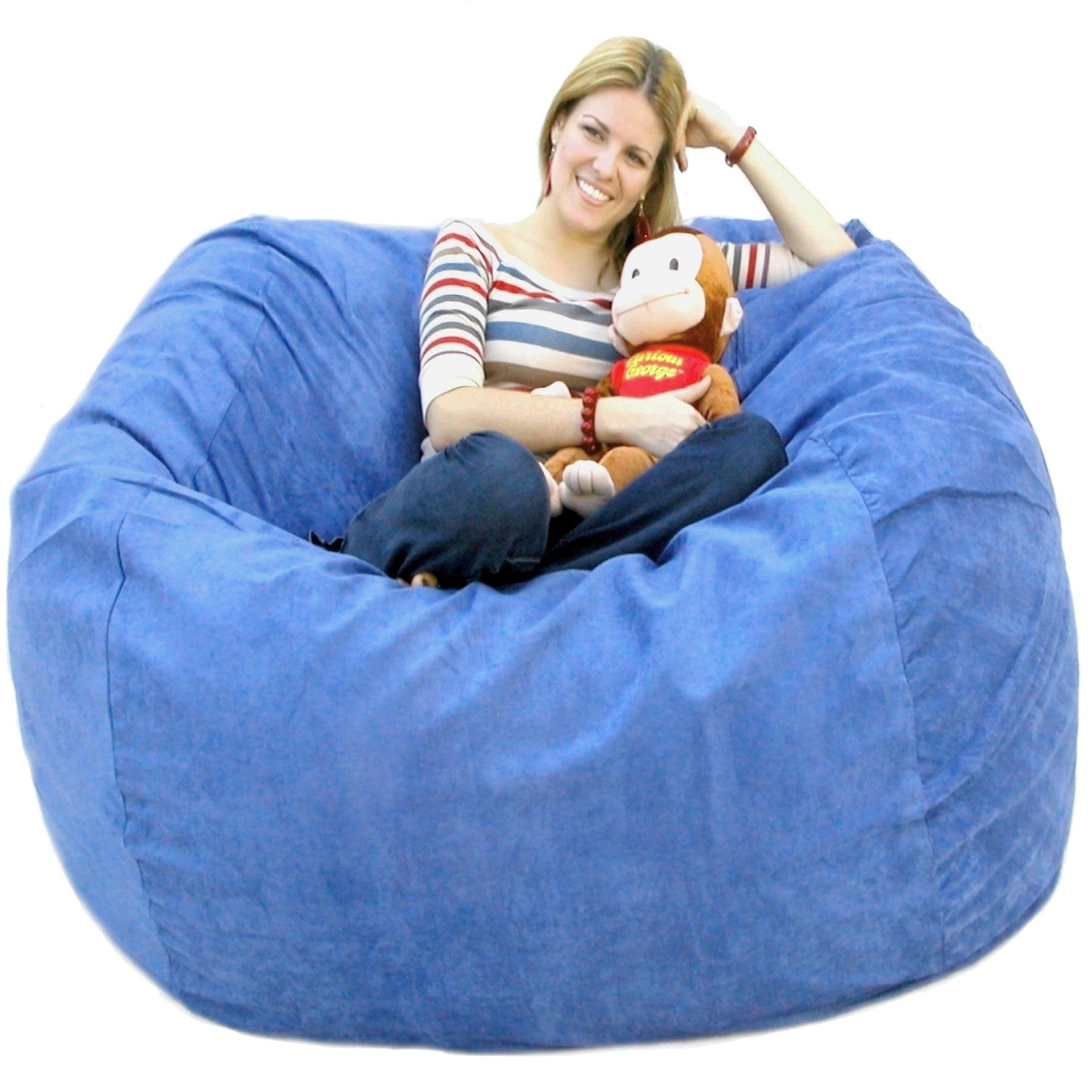 Sye Blue Beanbag Chair