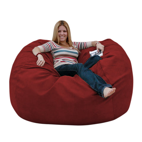 Bean Bag Chair Large 5 Foot Cozy Sack Premium Foam Filled Liner Plus Microfiber Cover