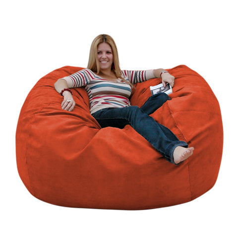 Bean Bag Chair Large 5 Foot Cozy Sack Premium Foam Filled Liner Plus  Microfiber Cover ...