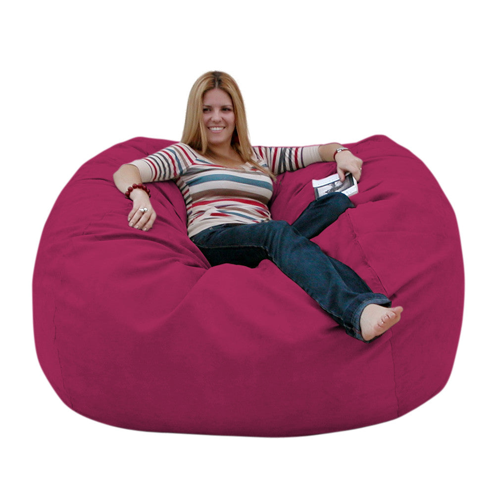 beanbag products filled premium plus bag large beanbagchair liner cozy chair sack foot foam bean pink