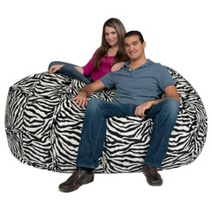 zebra bean bag