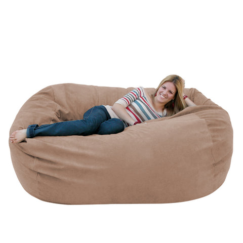 Incroyable ... Bean Bag Chair Large 6 Foot Cozy Sack Premium Foam Filled Liner Plus  Microfiber Cover ...