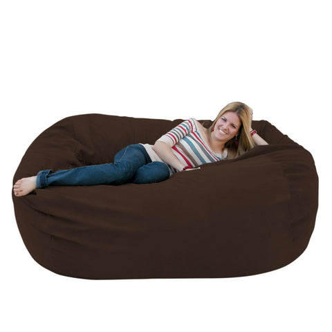 Bean Bag Chair Large 6 Foot Cozy Sack Premium Foam Filled Liner Plus Microfiber Cover