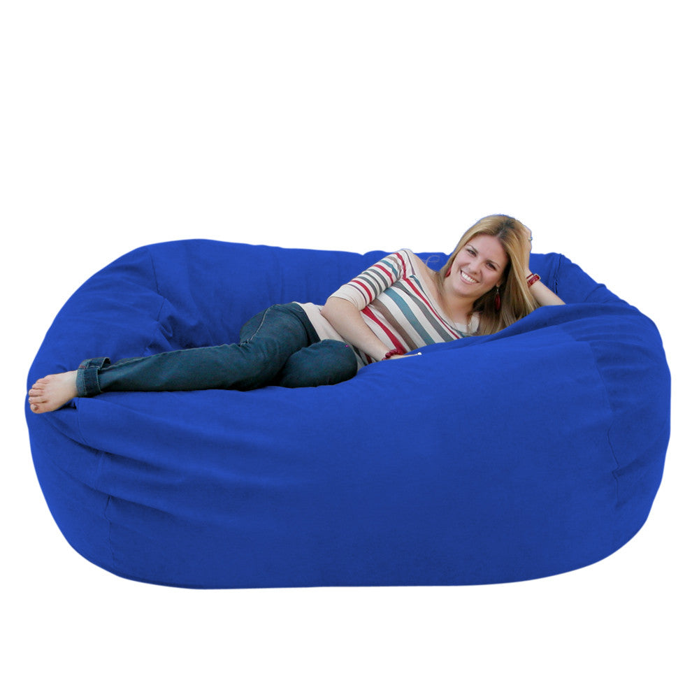Pleasant Bean Bag Chair Large 6 Foot Cozy Sack Premium Foam Filled Liner Plus Microfiber Cover Andrewgaddart Wooden Chair Designs For Living Room Andrewgaddartcom