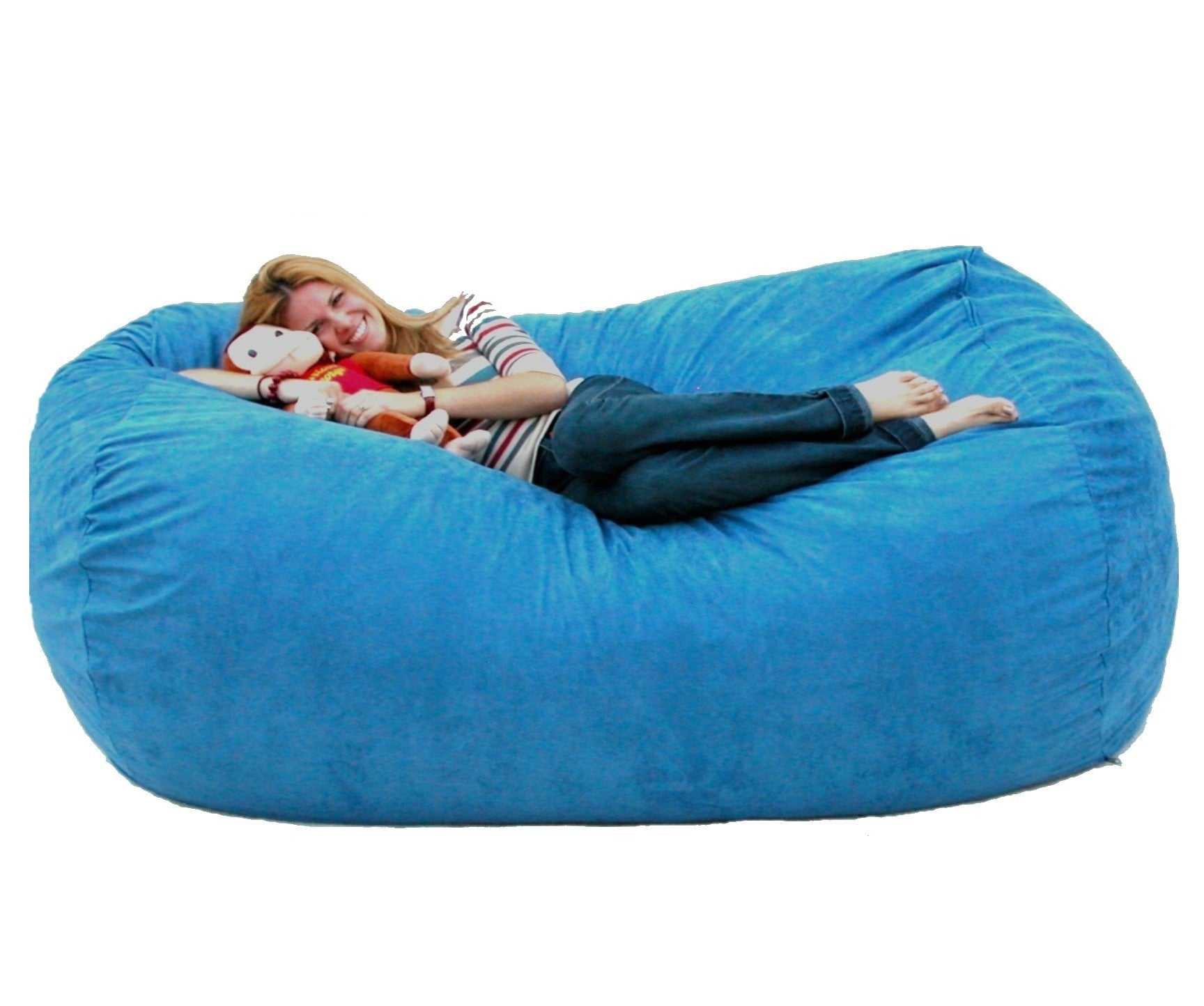 Bean Bag Chair 7 Foot Cozy Sack Premium Foam Filled Liner