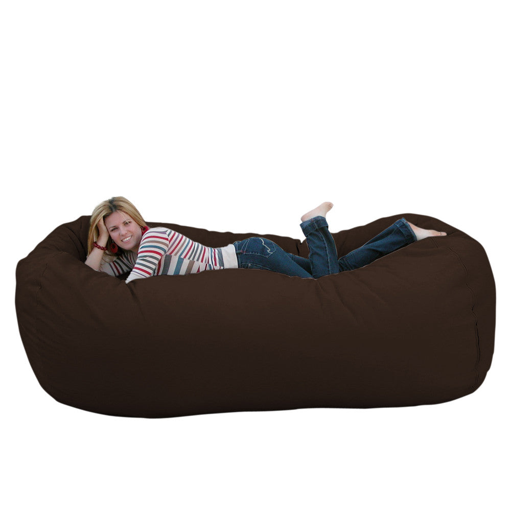 Admirable Bean Bag Chair Large 8 Foot Cozy Sack Premium Foam Filled Liner Plus Microfiber Cover Andrewgaddart Wooden Chair Designs For Living Room Andrewgaddartcom