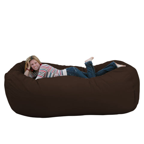 Bean Bag Chair Large 8 Foot Cozy Sack Premium Foam Filled Liner Plus Microfiber Cover
