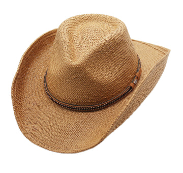 Silver Canyon Men's Phoenix Straw Shapeable Western Cowboy Sun Hat - Natural