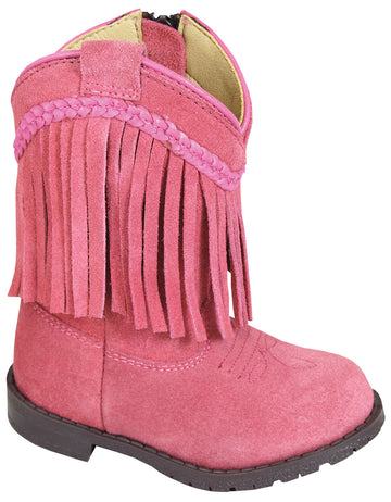 Smoky Mountain Toddler Western Hopalong Pink Fringe Zip Boot