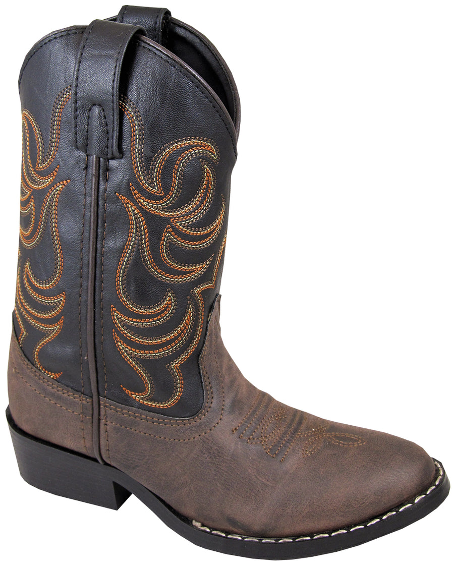 Smoky Mountain Youths Boys Monterey Western Cowboy Boots Brown/Black