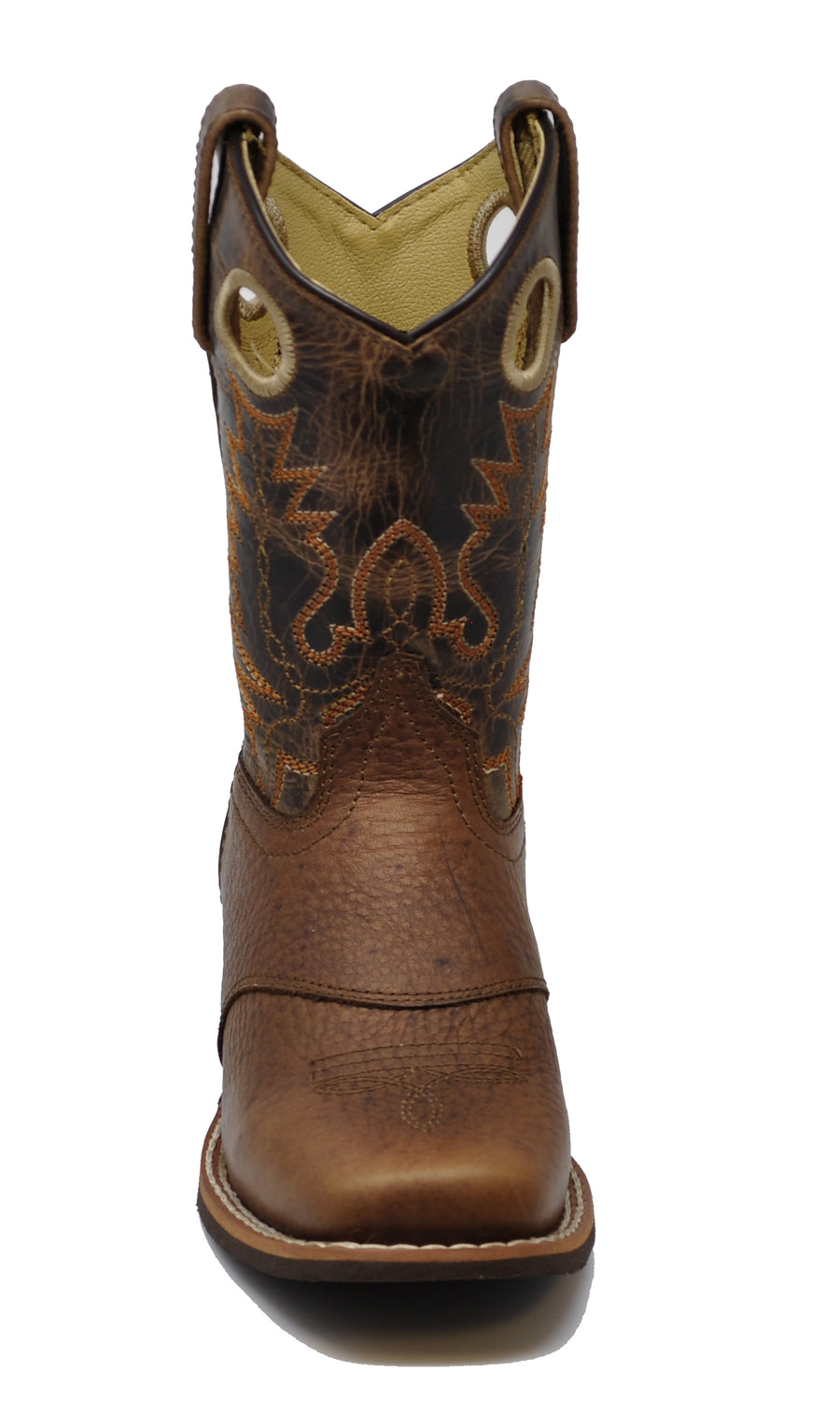 afeb61a6ccd Smoky Mountain Children Luke Square Toe Western Cowboy Boots Brown ...
