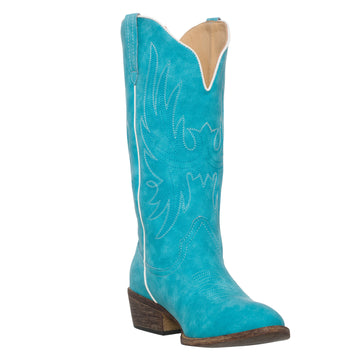 Women's Western Turquoise Cowboy Boot Cimmaron Country Round Toe by Silver Canyon