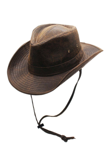 Men's Weathered Outback Outdoor Shapeable Hat by Silver Canyon